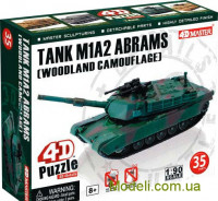 "4D-пазл ""Танк M1A2 Abrams (Woodland camooflage)"""