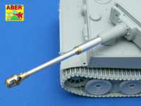 German 88 mm KwK 36 L/56 Barrel with early muzzle brake for Tiger I Early