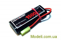 Акумулятор AGA POWER NiMh 1500mAh 7.2V 17x34x90мм Mini Tamiya