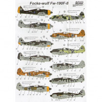 WWII Luftwaffe Focke-Wulf FW-190F-8 Unknown schemes and markings
