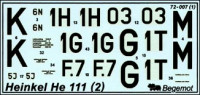 Heinkel He-111 decal (part 1)
