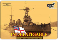 Линейный крейсер HMS Indefatigable Battlecruiser (Корпус по ватерлинию)