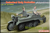 Полугусеничный мотоцикл Sd.Kfz.2 Kettenkrad Early Production w/Infanteriekarren