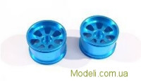 Blue Alum Wheel Rims 2P