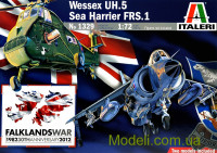 Вертолет Wessex UH.5 и истребитель Sea Harrier FRS.1