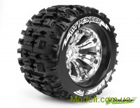 Колеса Louise Monster 1/8 MT-Pioneer, вылет 1/2, хром, 2 шт