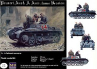 Pz I Ausf.A German WWII ambulance vehicle+figures