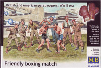 Британские и американские парашютисты / Friendly boxing match. British and American paratroopers