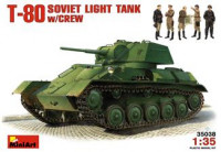 MA35038 T-80 Soviet light tank with crew
