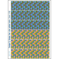 Lozenge B. German four color printed fabric
