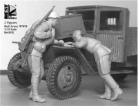 RM3552 Troubles with truck' WWII Red Army,2 fig
