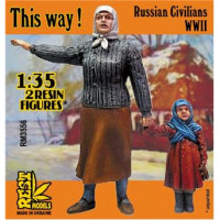 RM3556 This Way! ' WWII Russian civilians, 2 fig