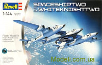 Космический корабль SpaceShipTwo и авианосец Carrier White Knight Two