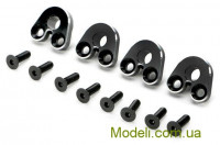 Team Magic E5 Option Part - Aluminum Pivot Ball Mount - Black 4p