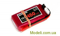 Акумулятор Aga Power Lipo 450mAh 11.1V 3S 25C Softcase JST