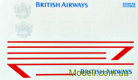 Декаль для літака Mcdonnell Douglas DC-10 British Airways