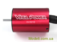 Безщітковий мотор 1:10 3650KV3210 Sensorless 11T KV3210 3.5 Shaft Banana Plug