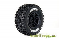 Колеса Louise Short Course 1/10 SC-Uphill Soft 12 мм задні, чорні, 2 шт