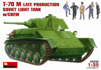 T-70M Soviet light tank, late with crew