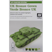 "Набір фарб ""AFV UK Bronze green"", 6 шт"