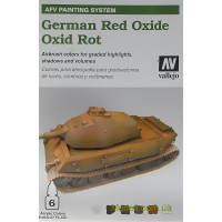 "Набір фарб ""AFV German red oxide"", 6 шт"